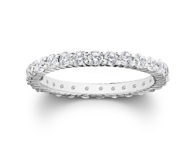 1ct Prong Diamond Eternity Ring 14K White Gold