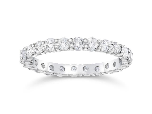 1 1/2ct Diamond Eternity Ring 950 Platinum Womens Stackable Band