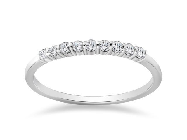 1/4ct 14K White Gold Diamond Wedding Stacker Guard Ring