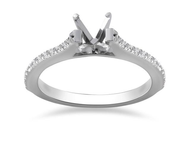 1/4ct Diamond Engagement Ring Setting 14K White Gold