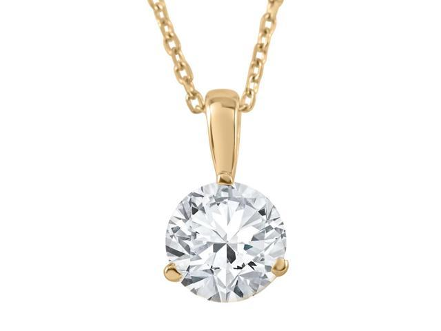 1/4 ct Solitaire Lab Grown Diamond Pendant available in 14K and Platinum