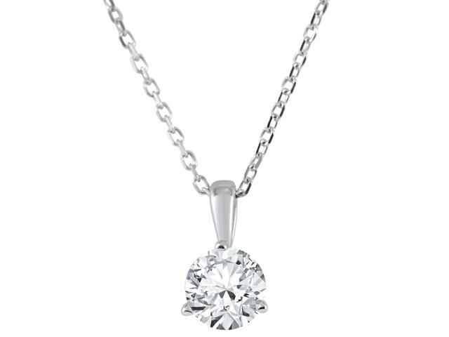1/5 ct Solitaire Lab Grown Diamond Pendant available in 14K and Platinum