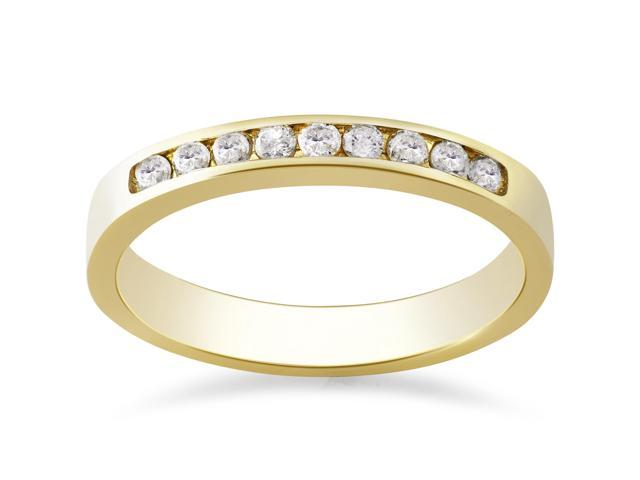 Yellow Gold 1/4ct Diamond Wedding Stackable Guard Ring