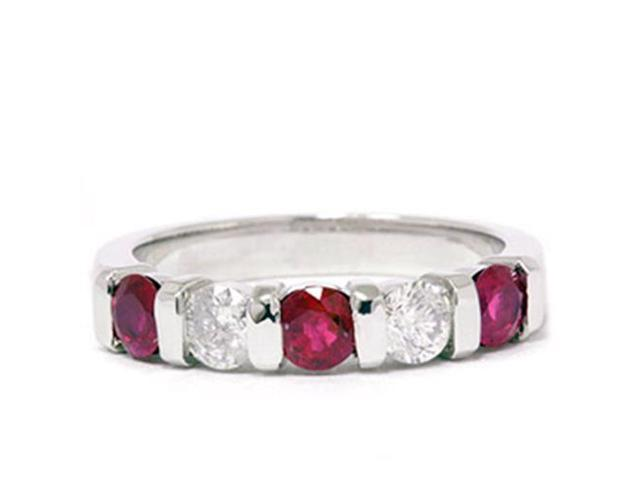 1/2ct Ruby & Diamond Wedding Anniversary 14K Ring