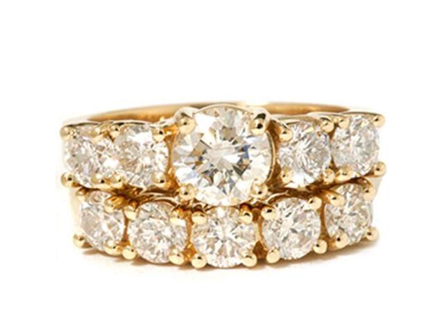2 1/2ct Round Diamond Matching Wedding Set 14K Gold