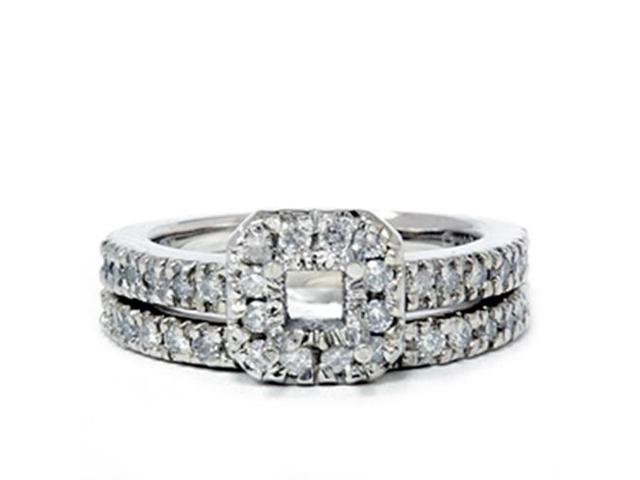 3/4ct Princess Cut Diamond Engagement Ring Setting 14K
