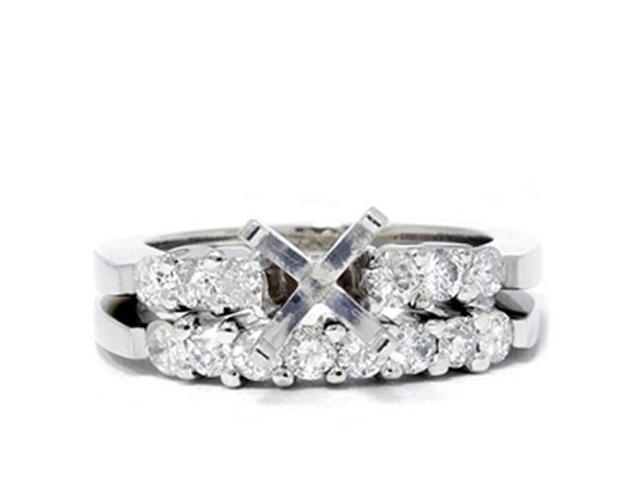 3/4ct Diamond Engagement Matching Ring Setting Semi Mount