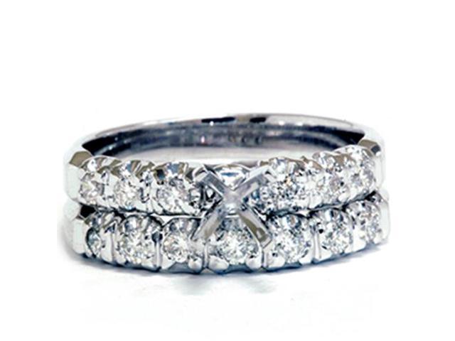 White Gold 1/2ct Diamond Semi Mount Engagement Wedding Ring