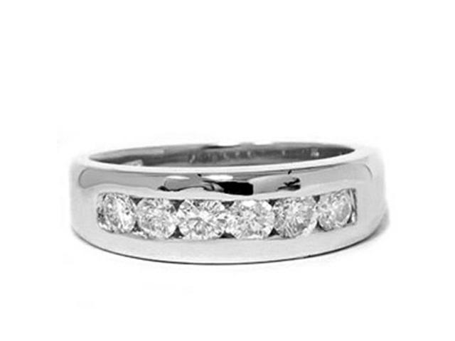 Channel Set Diamond Ring 14K White Gold