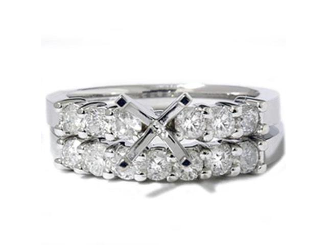 1ct Diamond Engagement Matching Wedding Ring Setting