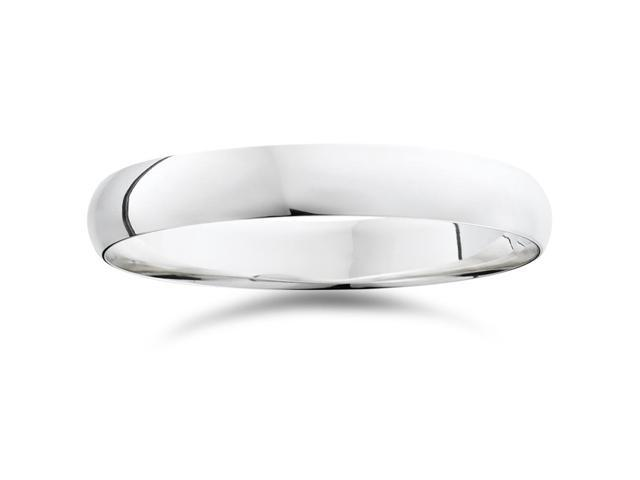 4mm Plain High Polished Wedding Band 950 Palladium
