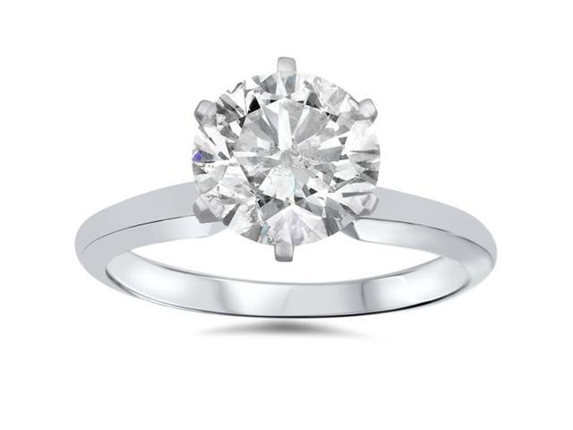 1ct Solitaire Diamond Ring 14K White Gold