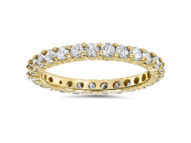 1 1/2ct Prong Diamond Eternity Ring 14K Yellow Gold