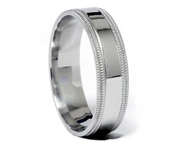 Double Milgrained Wedding Band 950 Platinum