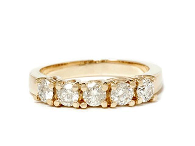 1 1/2ct Real Diamond Wedding Anniversary 14K Gold Ring