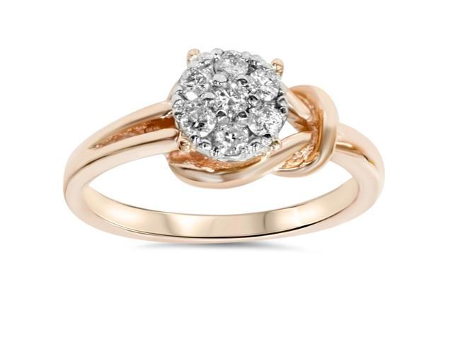 Diamond Promise Solitaire Ring 14K Rose Gold