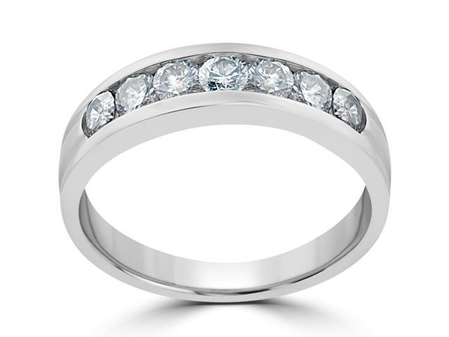 5/8 ct Diamond Wedding Womens Band 14K White Gold Anniversary Ring