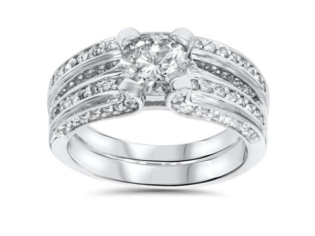 2 1/4ct Diamond Wedding Ring Set 14K