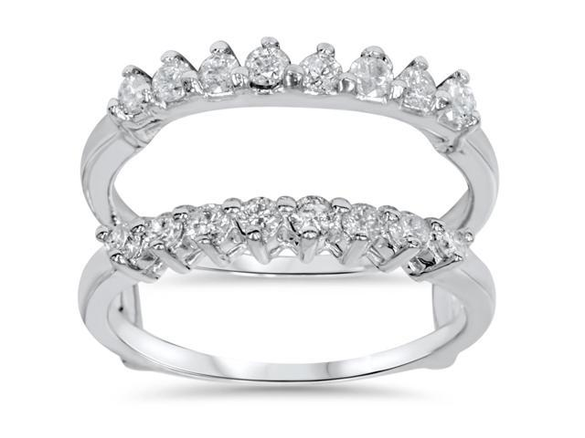 5/8ct Diamond Wedding Guard Ring Enhancer 14K White Gold