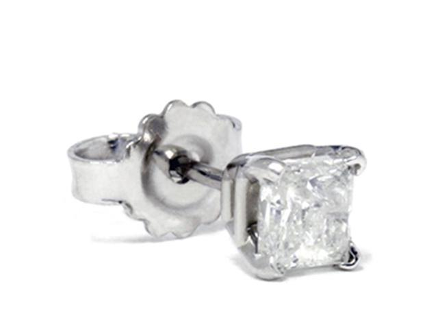 1/3ct Diamond Stud 14K White Gold