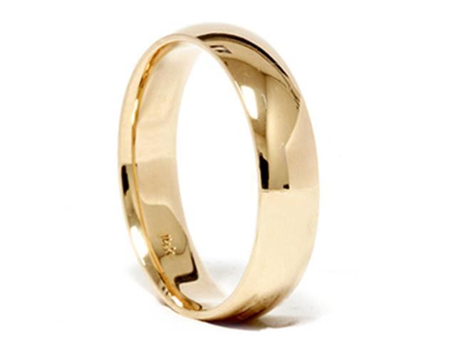 High Polished Wedding Band 14K Yellow Gold