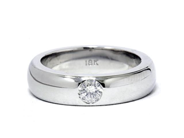 18K White Gold 1/6ct Round Diamond Promise Ring