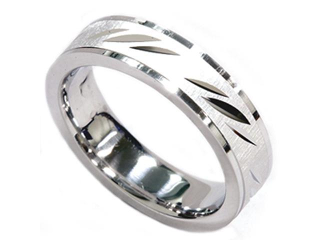 6mm Brushed Comfort Fit Heavy 14K White Gold Band