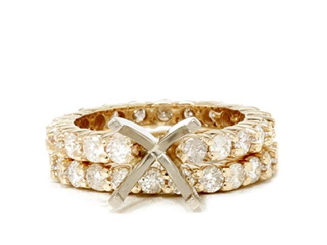 3ct Diamond Eternity Wedding Engagement Ring Setting