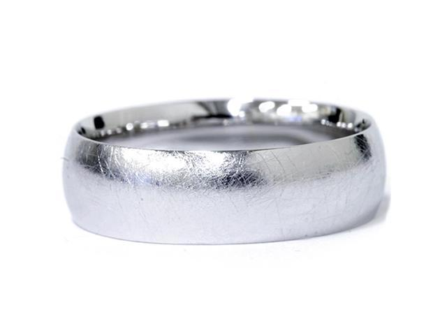 Designer Finish Mens 6mm Platinum Wedding Band
