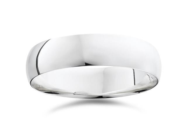 High Polished Wedding Band 950 Platinum Plain