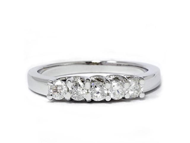 White Gold 1/2ct 14K Diamond Wedding Guard Ring New