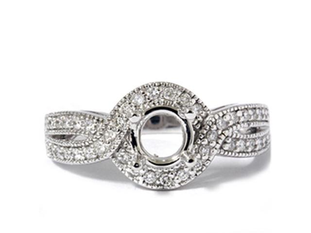Women's 1/3ct Fancy Diamond Semi Mount Engagement Ring Setting