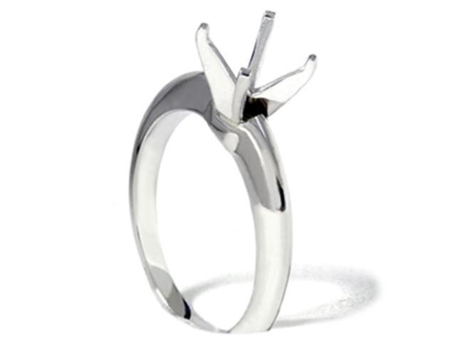 Knife Edge Solitaire Engagement Ring Setting Mount 14K