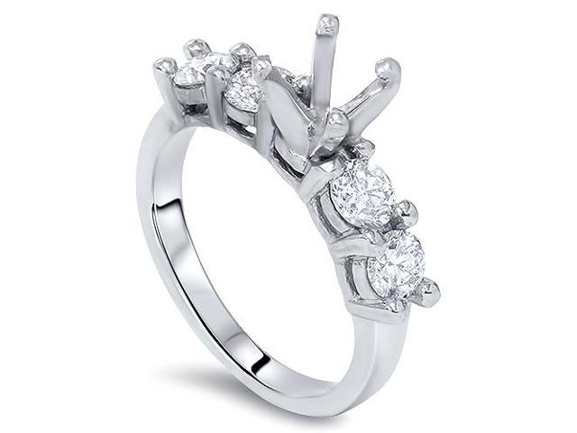 1 5/8ct Diamond Semi Mount Engagement Ring Setting 14K White Gold