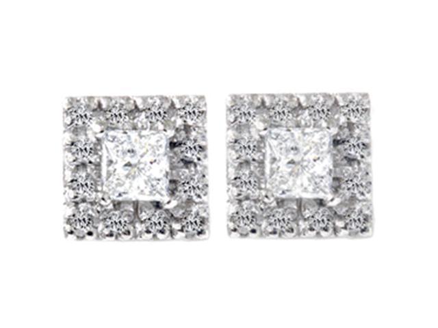 3/4ct Diamond Studs Earrings White Gold