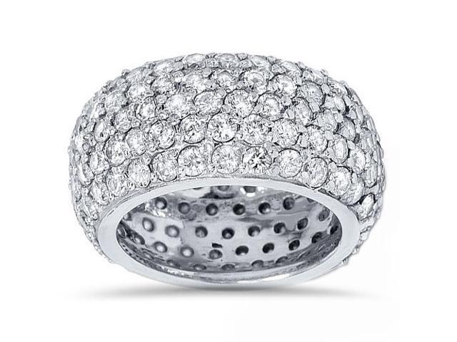 5 3/4ct Pave Diamond Eternity Wedding Anniversary Ring