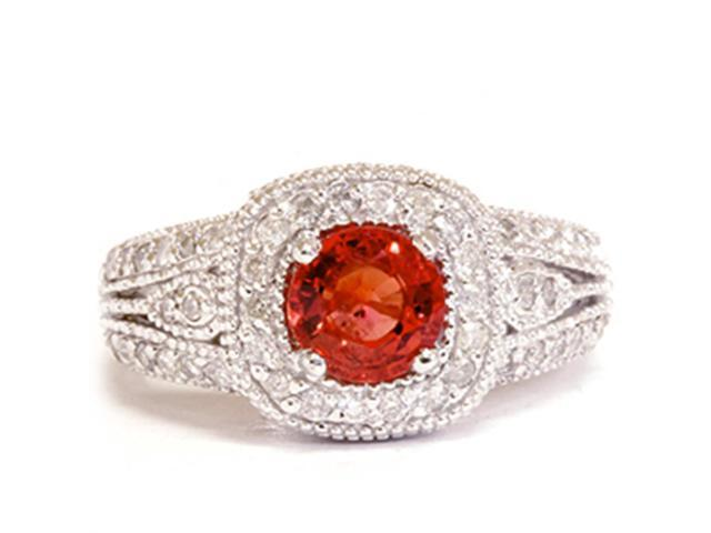 1 3/4ct Vintage Halo Diamond Ring 14K White Gold