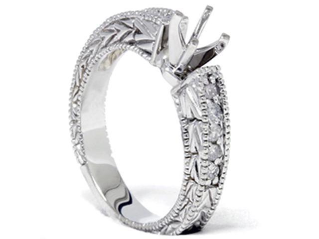 1/4ct Diamond Engagement Antique Like Ring Setting 14K