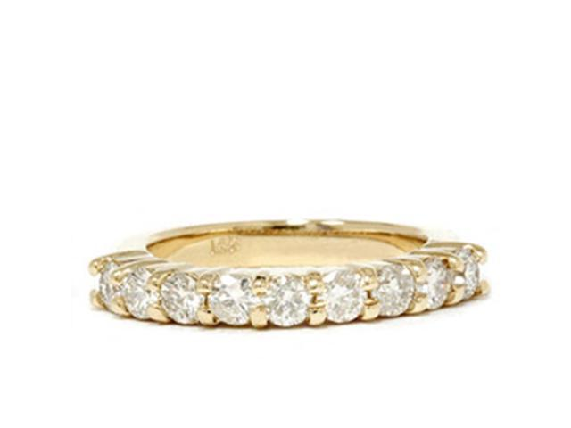 1ct Diamond Wedding Ring 14K Yellow Gold Ring Band