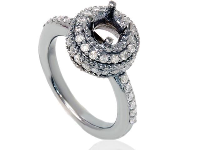 1/2CT Diamond Engagement Ring Setting 14K White Gold