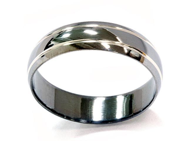 Mens 14K Black Gold 6mm Wedding Band Ring