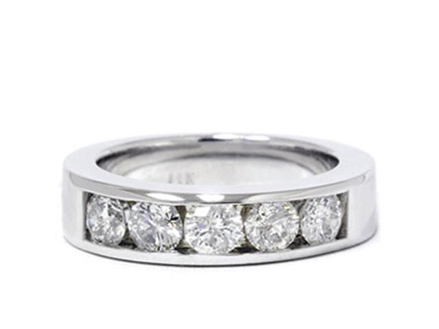 1 1/4ct Diamond Mens Wedding Ring Channel Set High Pold Band Jewelry Round Cut