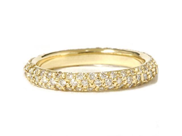 18K Gold 1ct VS/SI Pave Diamond Eternity Ring