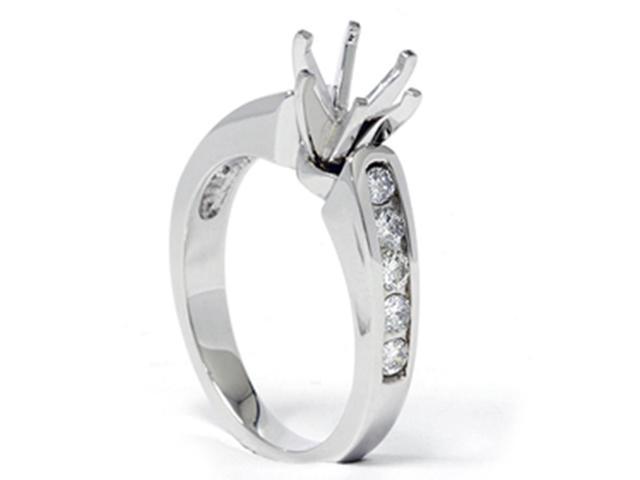 1/2ct Diamond Semi Mount Engagement Ring 14K White Gold