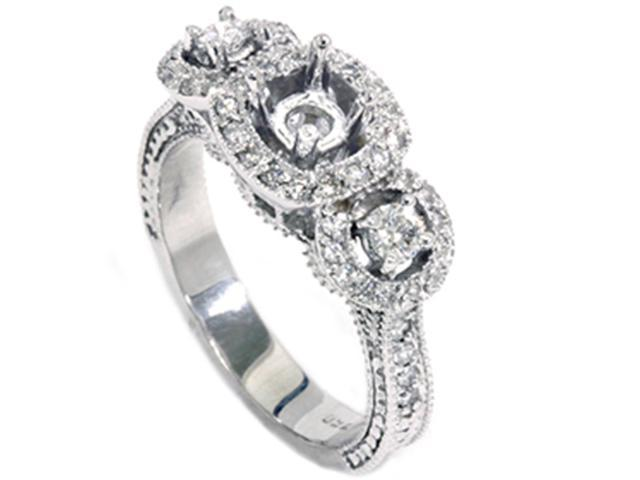 1/2ct SI Vintage Diamond Engagement Engraved Mounting