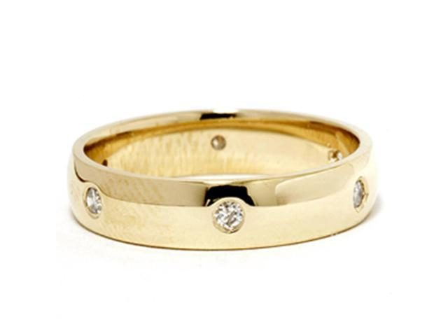 18K Yellow Gold 1/5ct Diamond Eternity Wedding Ring