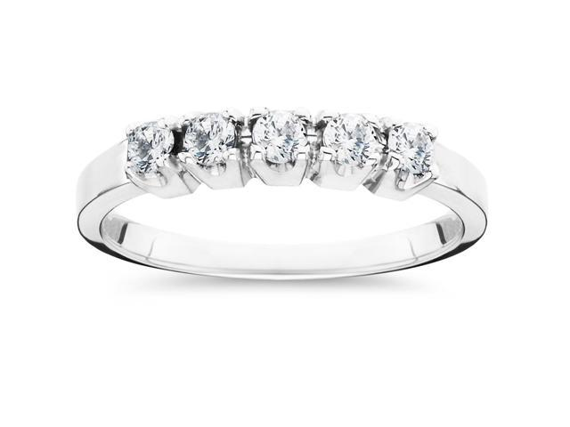 1/2ct Round Diamond Wedding Anniversary White Gold Ring