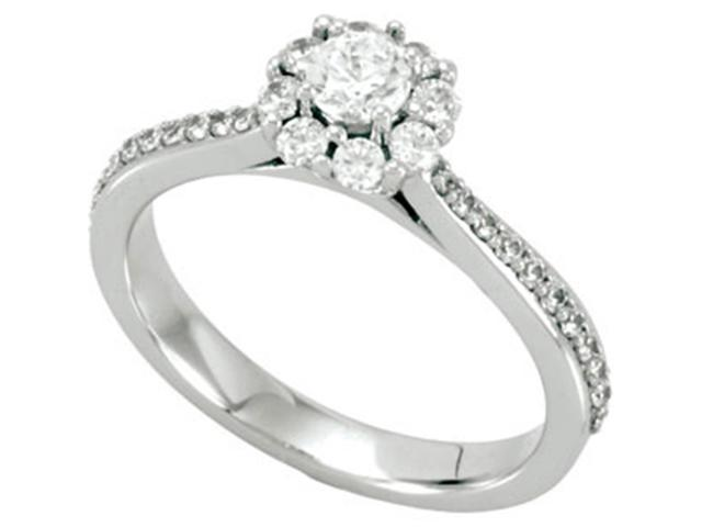 3/4ct Pave Diamond Engagement Ring