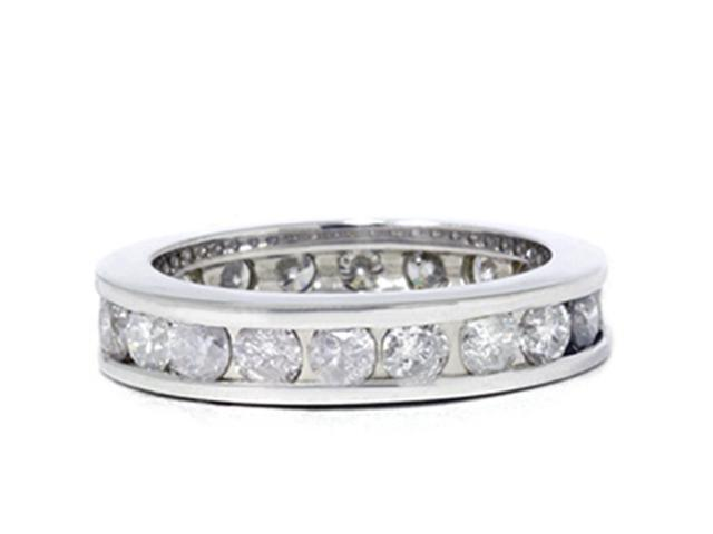 2ct Channel Set Diamond Eternity Ring 14K White Gold