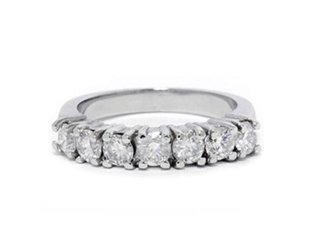 1ct 950 Palladium Diamond Wedding Anniversary Womens Ring